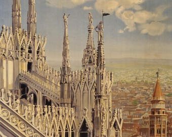 "Very nice vintage advertising ""Milano"" poster."