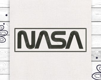 NASA Space Discount 10% Digital embroidery design 4 sizes INSTANT DOWNLOAD EE5052