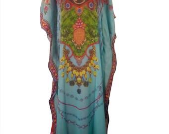 Colourful Kaftan for Summer beachwear wedding bridesmaid summer wear