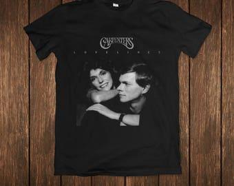 The Carpenters Lovelines Music Album Cover Black T-shirt