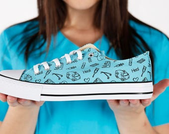Medical, Nurse and Doctor Sneakers - Fashion shoes to those who save lives - Free Shipping to US/CA.