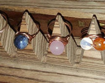 Gemstone Copper Rings