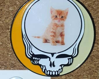 Kitten Stealie Grateful Dead Hat Pin