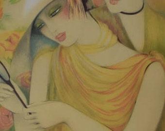 Colette Deyme (1945) - Femme devant mirroir