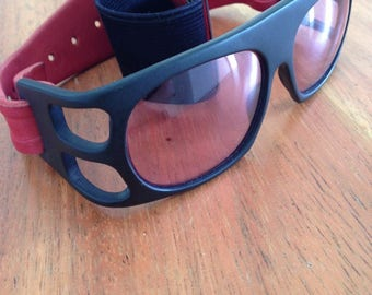 Ultra rare Alain Mikli x Claude Montana Vintage motorcycle sunglasses goggles