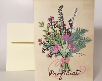 "Greeting Card ""Bouquet Congratulations"""