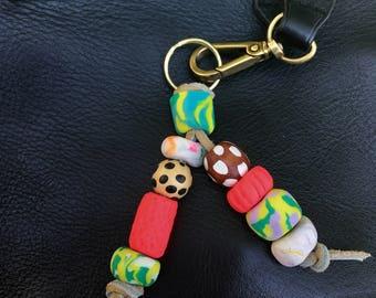 Bold n Bright Handmade Beaded Statement Keychain