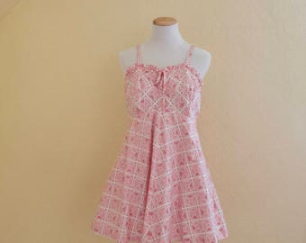 1950's pink playsuit by Lord and Taylor