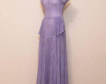 1940's lilac lace dress