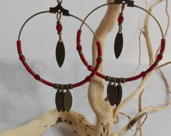 Bohemian style hoop earrings