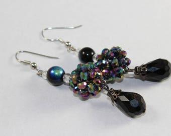 Black Sparkle earrings