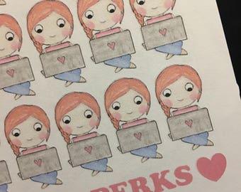 Red Hair Laptop Girl