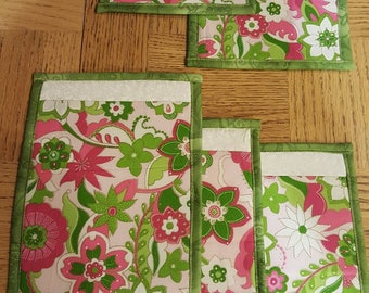 MUG RUGS  SET of 6 (Six), modern cup or glass coaster. Perfect for cup and small plate.