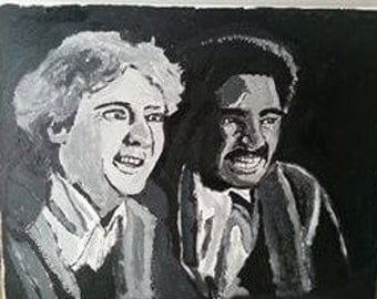 Gene Wilder & Richard Pryor portrait painting