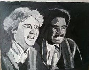 Gene Wilder & Richard Pryor portrait painting