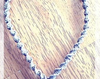 Hemp Necklace with Glass Pendant