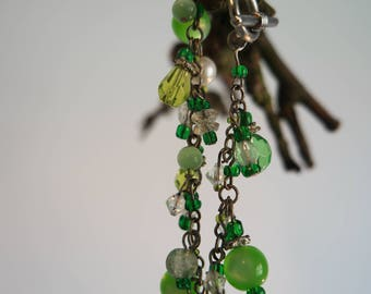 Bracelet green glassbeads