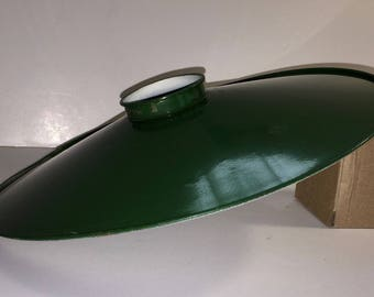 Green Lacquered Industrial Metal Shade
