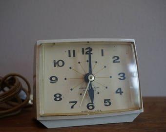 Vintage Westclox Electric Mid Century Alarm Clock