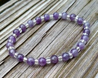Amethyst Natural Stone Bracelet