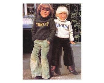Kids Turtleneck Sweaters - Knitting Pattern