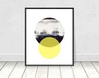 Abstract Print, Circles Print, Geometric Print,Printable Art,Abstract Art,Scandinavian Print,Abstract Poster,Modern Minimalist,Sunrise Print