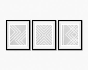 Set of 3 Prints, Scandinavian Print Set, Geometric Wall Art, Printable Art, Abstract Print Set, Set of Three, Geometric Print,Nordic Posters