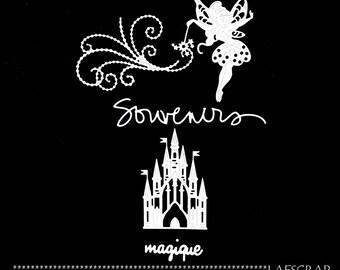 fairy wand scrapbooking cuts magical memories Word Magic baby birth dress Castle Princess embellishment die