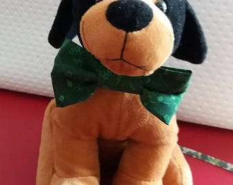 NASTURTIUM: Bow tie dog collar Green