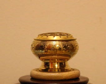 Brass Incense Burner, Brass Charcoal Burner, Brass Resin Incense Holder, Brass Incense Censor