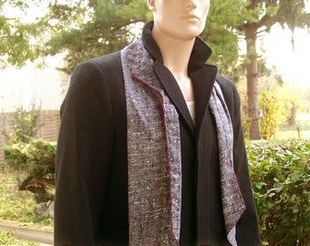 Red mottled grey man ENZO scarf