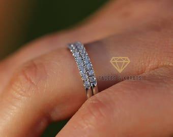 Stacked wedding ring Etsy