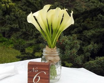 Rustic Wedding Table Numbers - Wood - Rustic Wedding - Table Decor