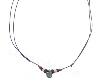Buddhist kila pendant on chord necklace, Phurba pendant, buddha necklace, Buddha Halskette, collier de bouddha