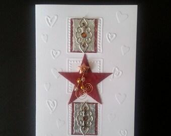 Star greeting card blank inside