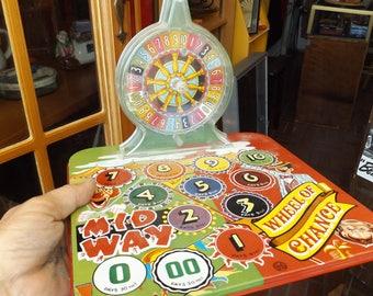 Vintage Marx Toys Midway Wheel of Chance Tin Toy