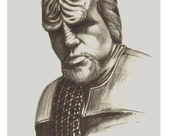Worf Pencil Portrait