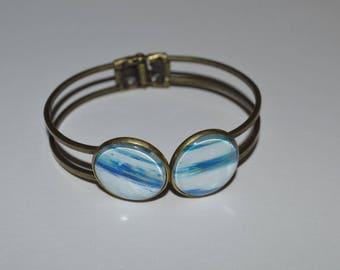 Bronze bracelet double single 20 mm