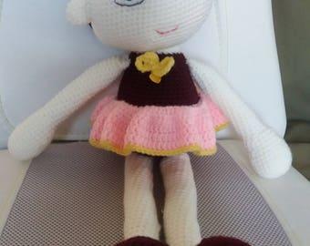 Johanna, crochet doll