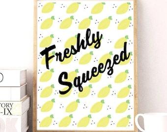 Freshly Squeezed Lemons Print // Printable Download