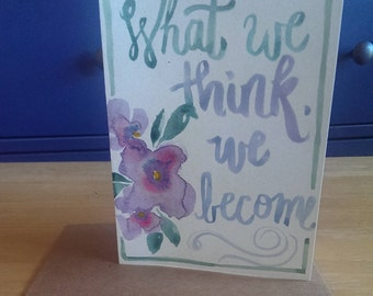 What We Think Handpainted Card