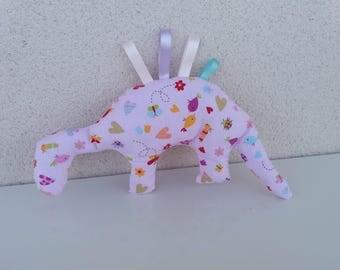 Dinosaur patterns Pink for girls. Dinosaur fabric. Gift idea.