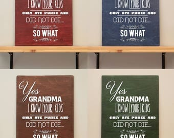 Baby led weaning - Vinyl on varnished wood (choose from 2 sizes and a range of colours) - Wall decor