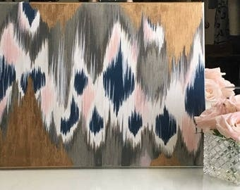 Modern Ikat Painting