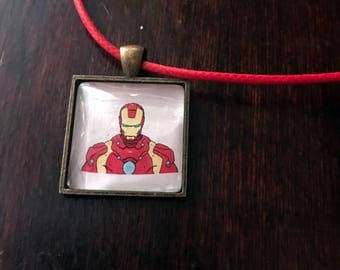 Iron Man/Tony Stark original fan art pendant necklace!