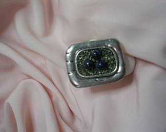 """Adjustable ring topped with gemstones precious drill """"Lapis Lazuli and Pyrite"""""""