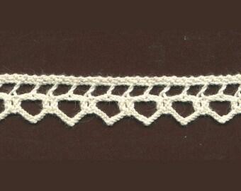 10 mm Ecru cotton lace