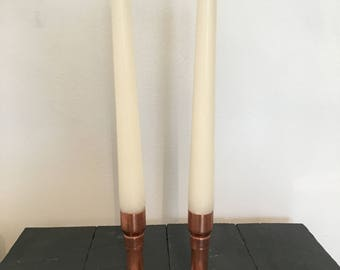 Copper Pipe Candle Stick Holder LOVE HEART