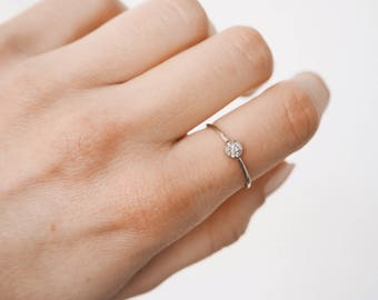 Silver ring - simple ring - silver simple ring - sterling silver - stacking ring - minimalist jewelry - E003