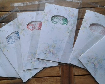 Set of 6 greeting cards and love with poems-love cards with poems